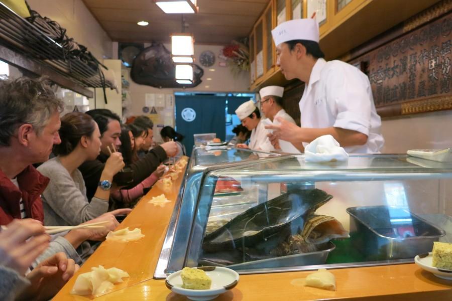 築地で日本一のお寿司「寿司大」を!3時間待ち当たり前!