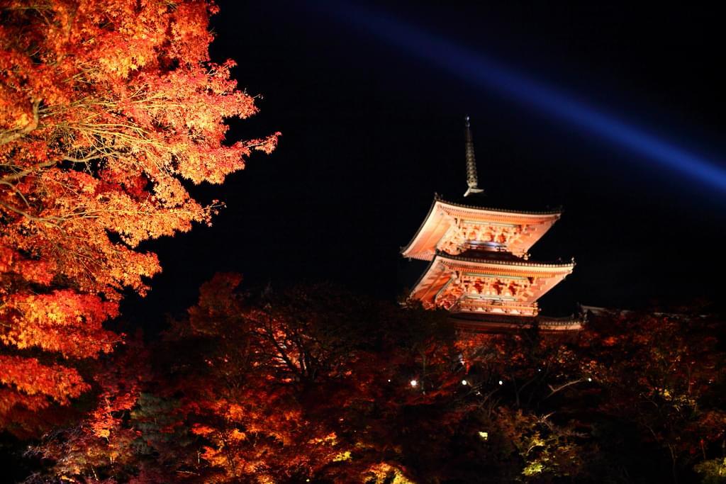 京都の定番スポット清水寺で秋の紅葉を楽しもう!