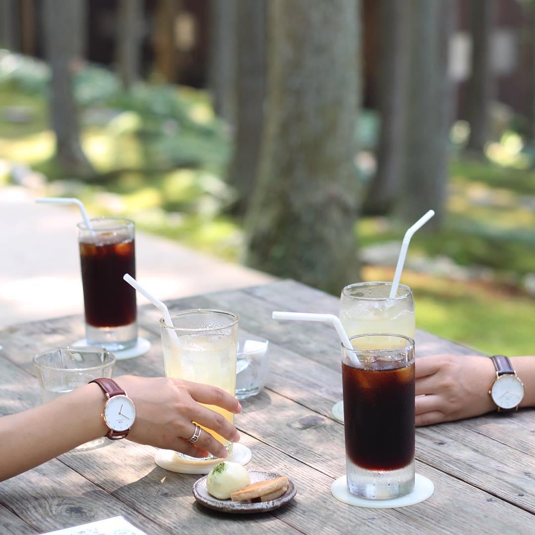 愛媛・西予市の苔カフェ「苔むしろ」が素敵すぎる!外でいただくコーヒー&抹茶は格別!